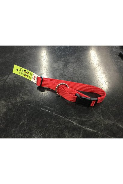 "1"" Adjustable Dog Collar - Red 14-22"""