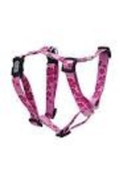 "Dogit Adjustable Harness, 3/4"" x neck: 16-23"" x Chest: 20-28"", Medium, Aloha, Pink"