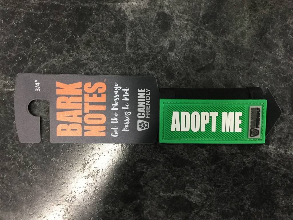 "Bark Notes Leash Wraps 3/4"" - Adopt Me-1"