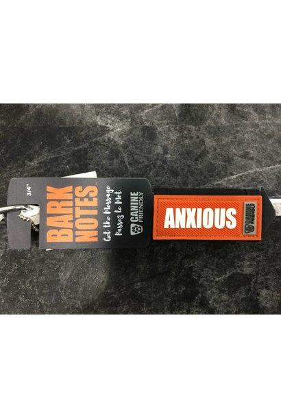 "Bark Notes Leash Wraps 3/4"" - Anxious"