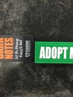 "Bark Notes Leash Wraps 1"" - Adopt Me"