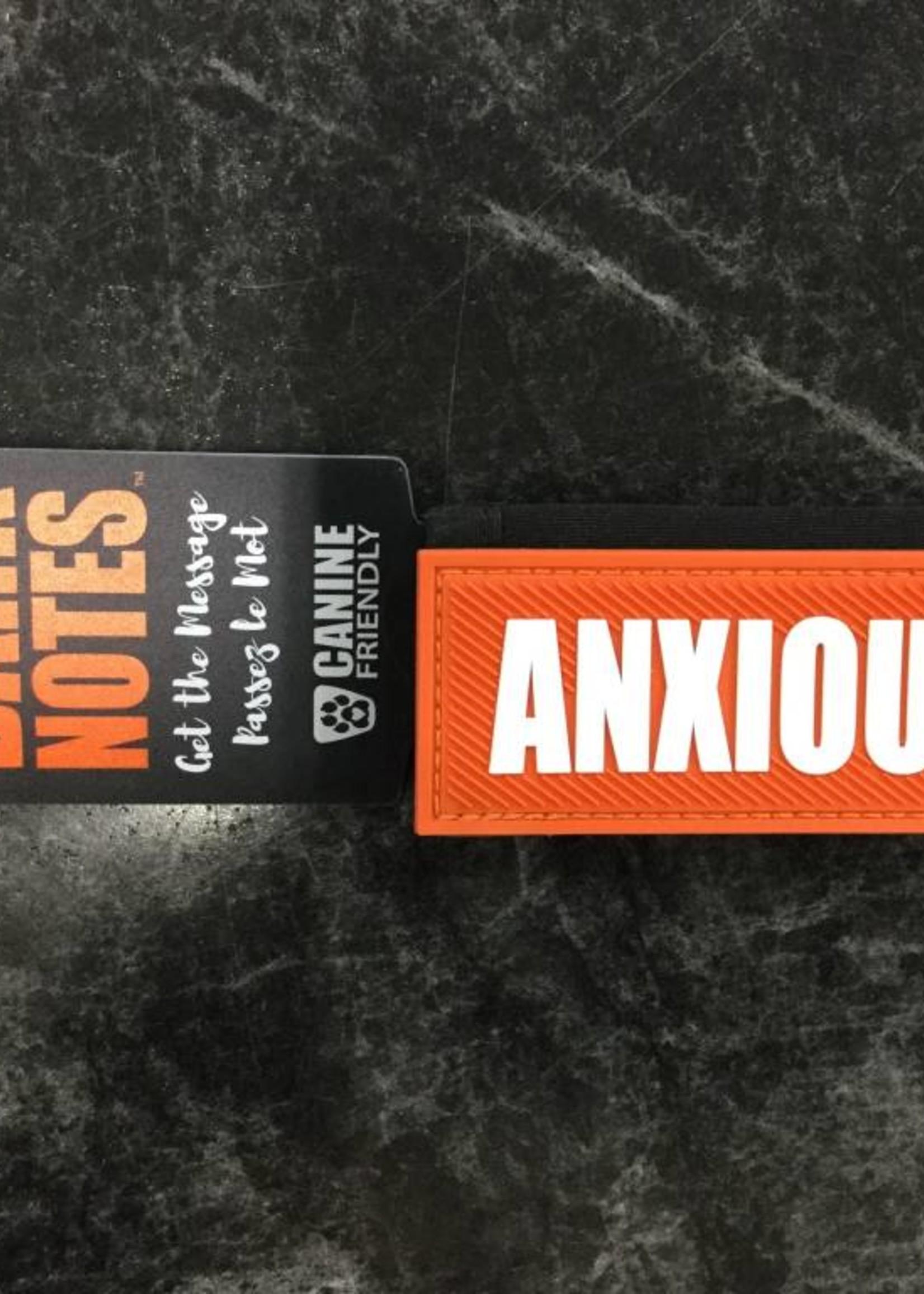"Bark Notes Leash Wraps 1"" - Anxious"