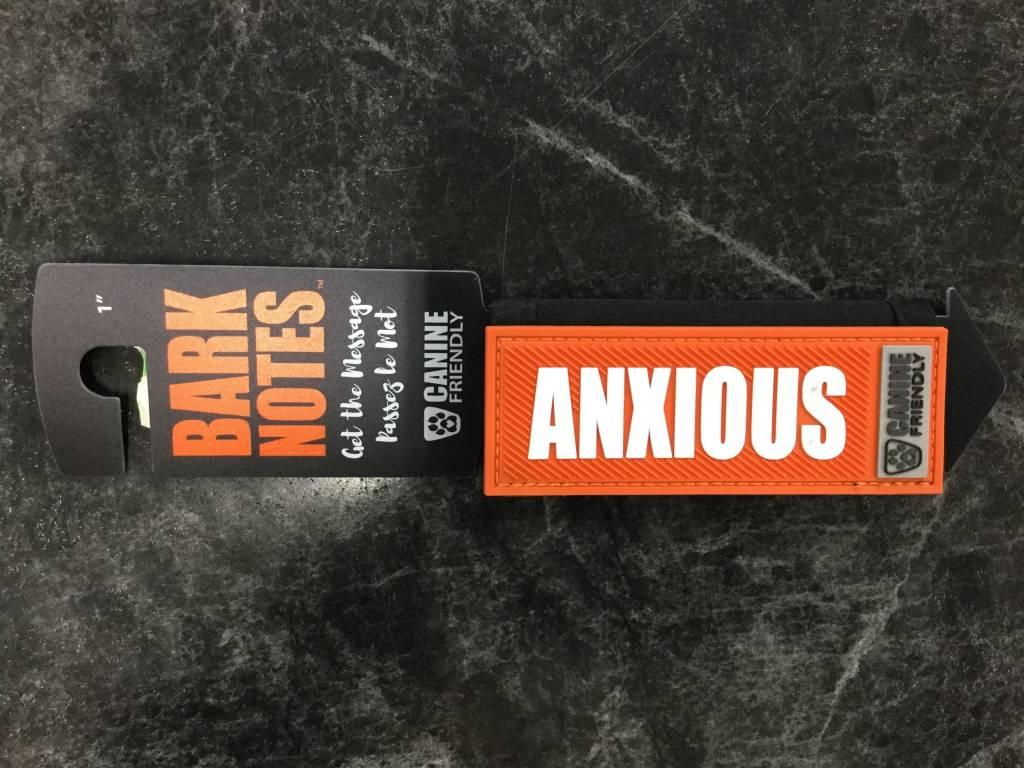 "Bark Notes Leash Wraps 1"" - Anxious-1"