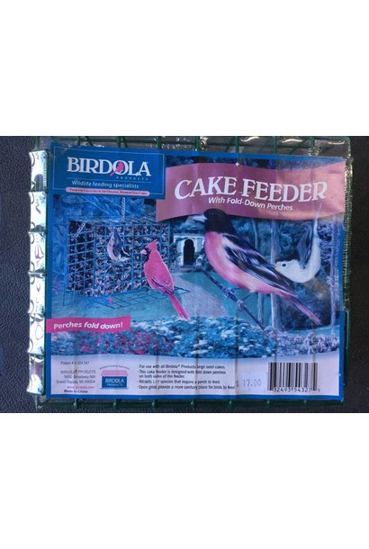 Cake Feeders for Birds w/Fold-Down Perches