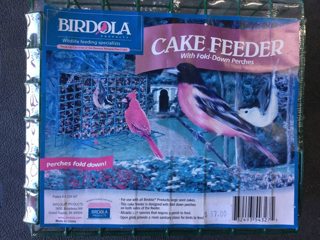 Cake Feeders for Birds w/Fold-Down Perches-1