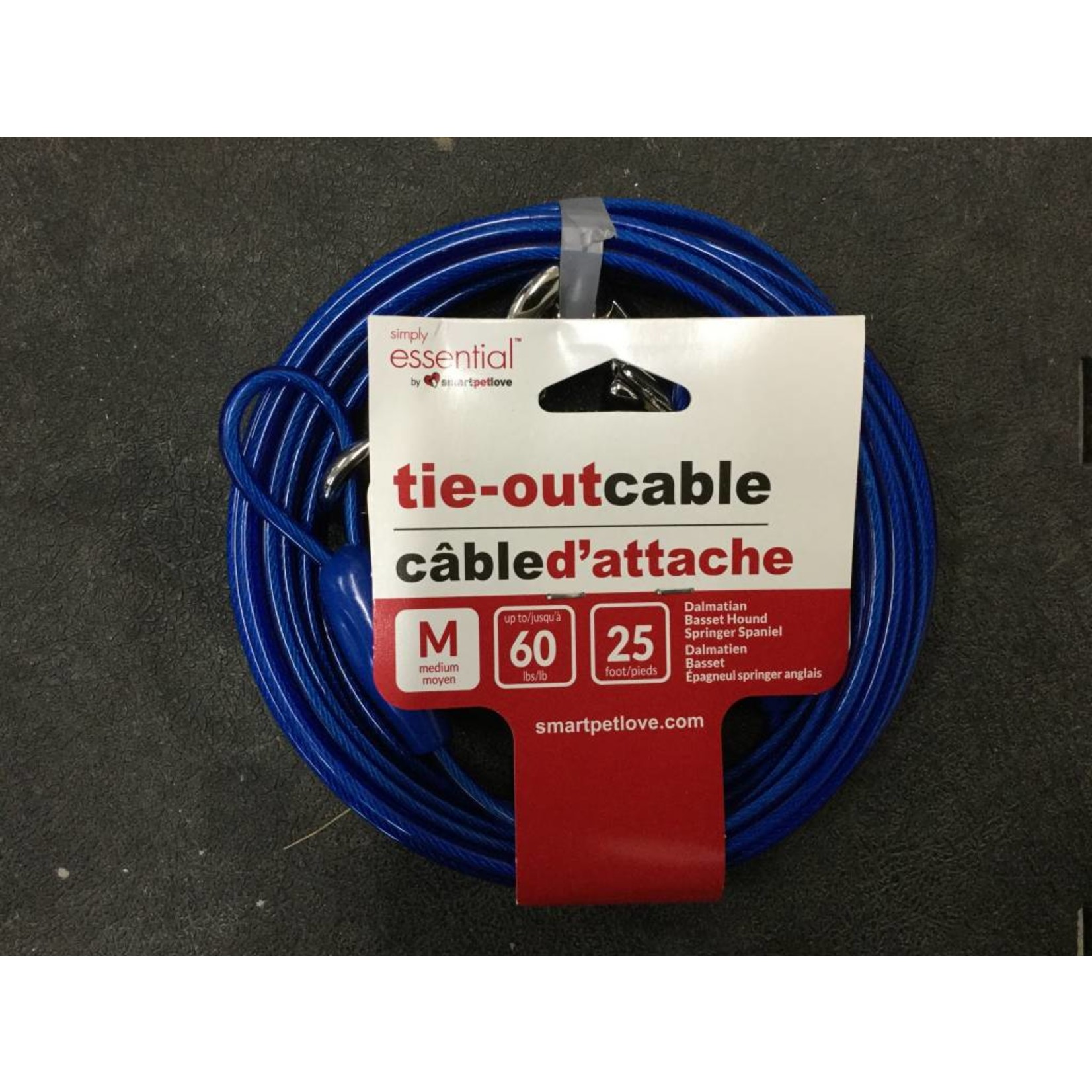 Med Tie Out Cable 25ft Blue