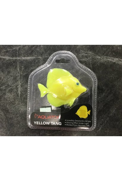 Aquatop Yellow Tang Fish 4in Silicone
