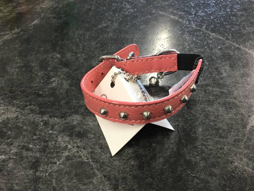 "Angel Pet Cat Collar Studded 10"" Pink-2"