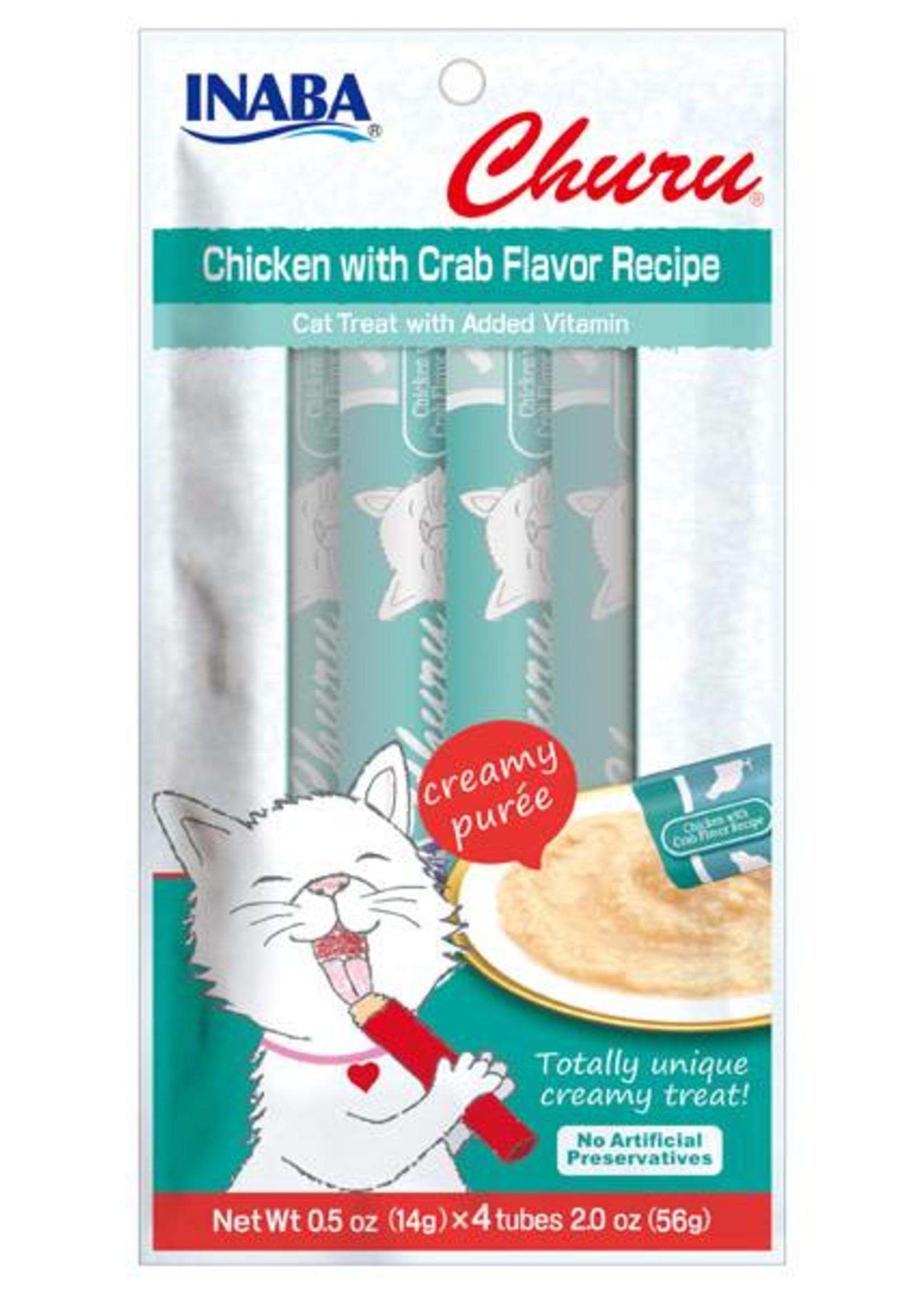 INA Churu Puree Chicken with Crab Flavour 4pk