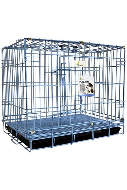 PupCrate Dbl Door Blue 24.8x17.3x20.5