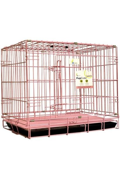 PupCrate Dbl Door Pink 24.8x17.3x20.5