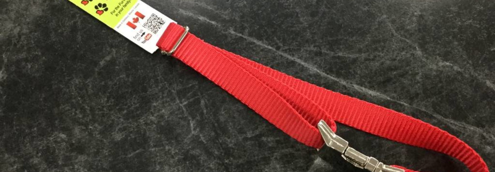 "3/4"" Adjustable Dog Collar with Mighty Metal Buckle Buckle Red 14-20"""