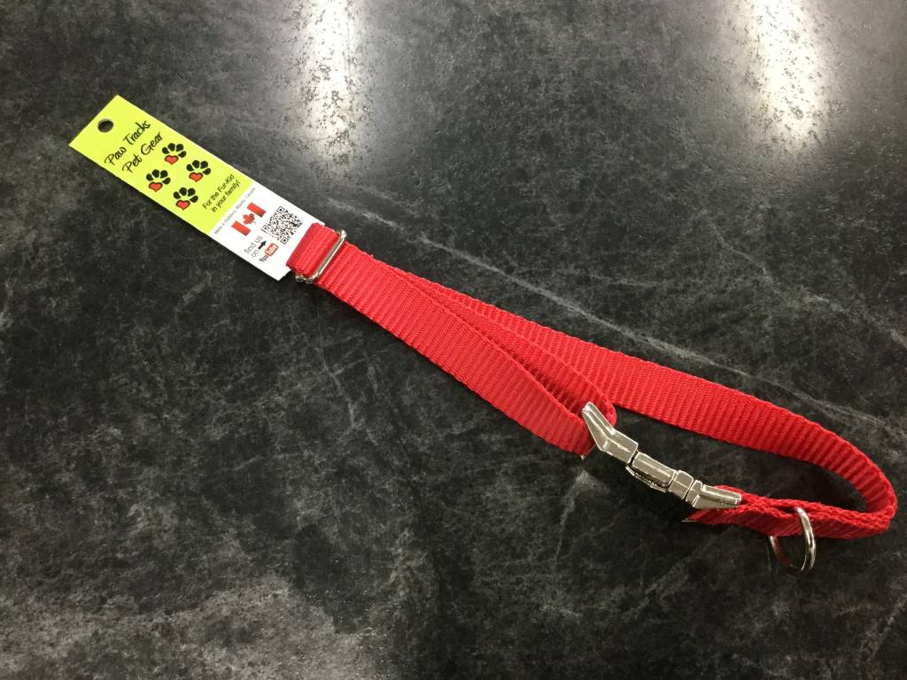 "3/4"" Adjustable Dog Collar with Mighty Metal Buckle Buckle Red 14-20""-1"