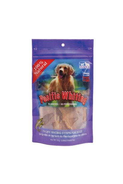 Dog Pacific Whiting Strips 25GM