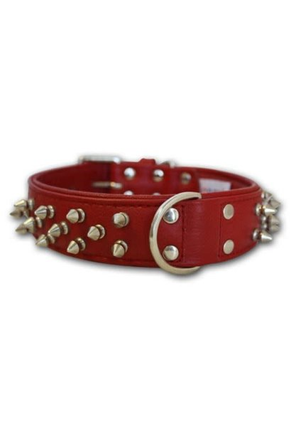 """Angel Collar Spiked Red 22"""" x 1.5"""""""