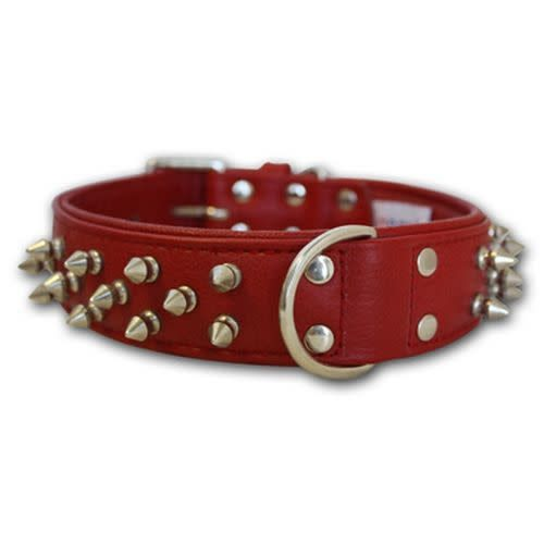 """Angel Collar Spiked Red 22"""" x 1.5""""-1"""