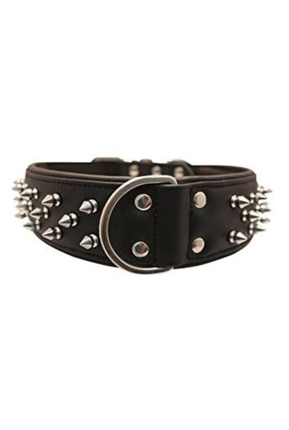 "Angel Collar Spiked Black 22"" x 1.5"""