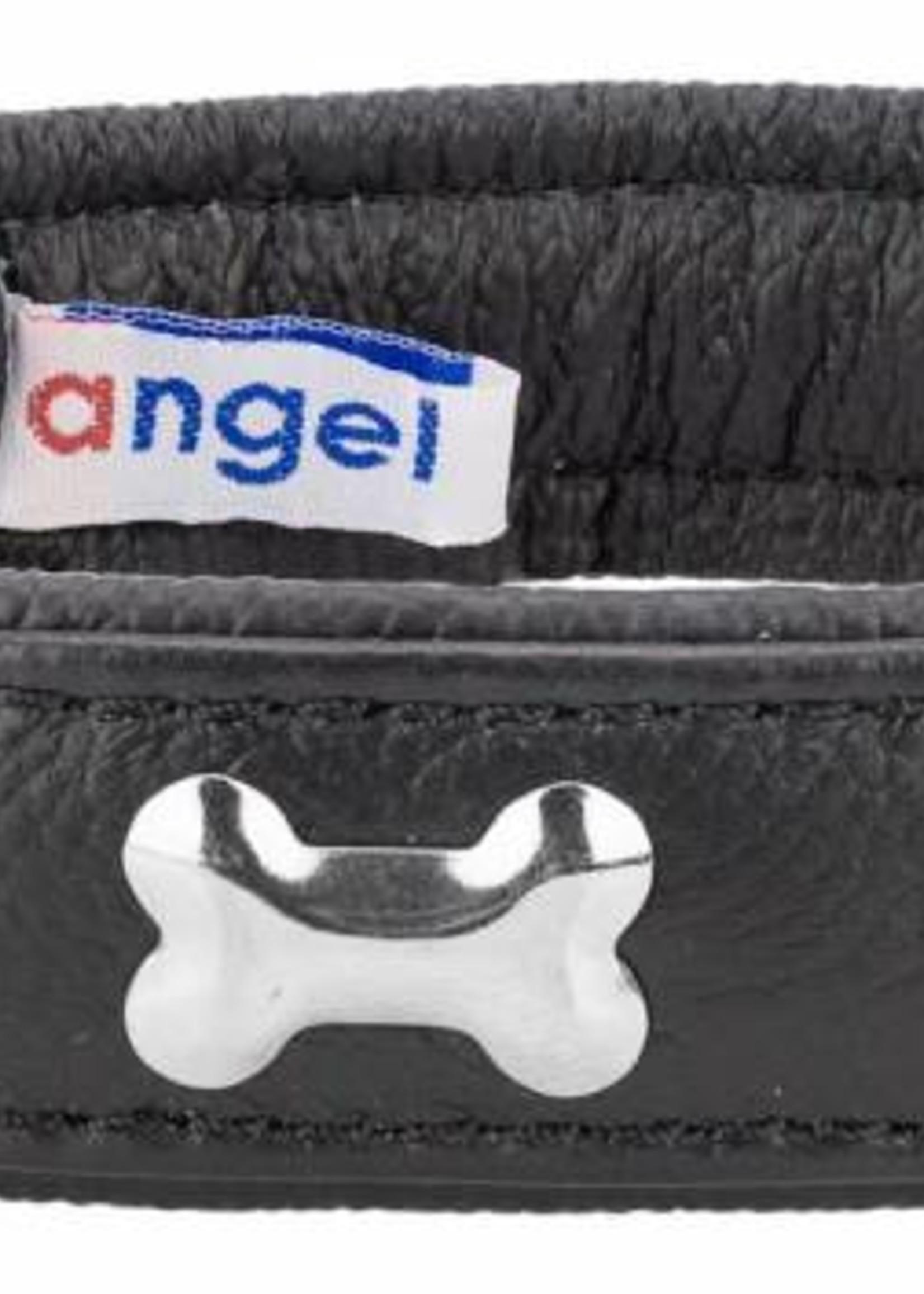 "Angel Collar Bones Black 14"" x 3/4"""