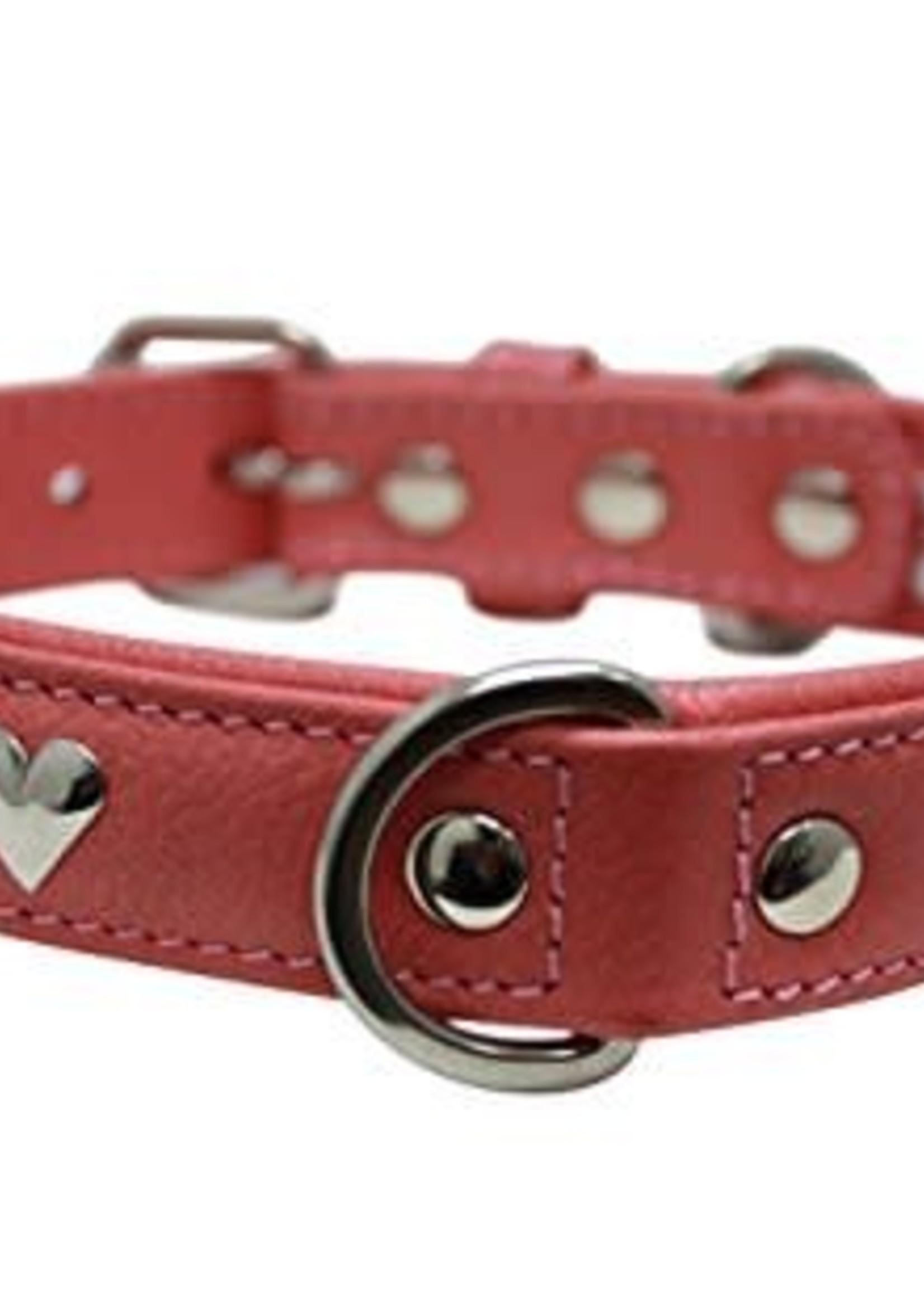 "Angel Collar Hearts Red 16"" x 3/4"""