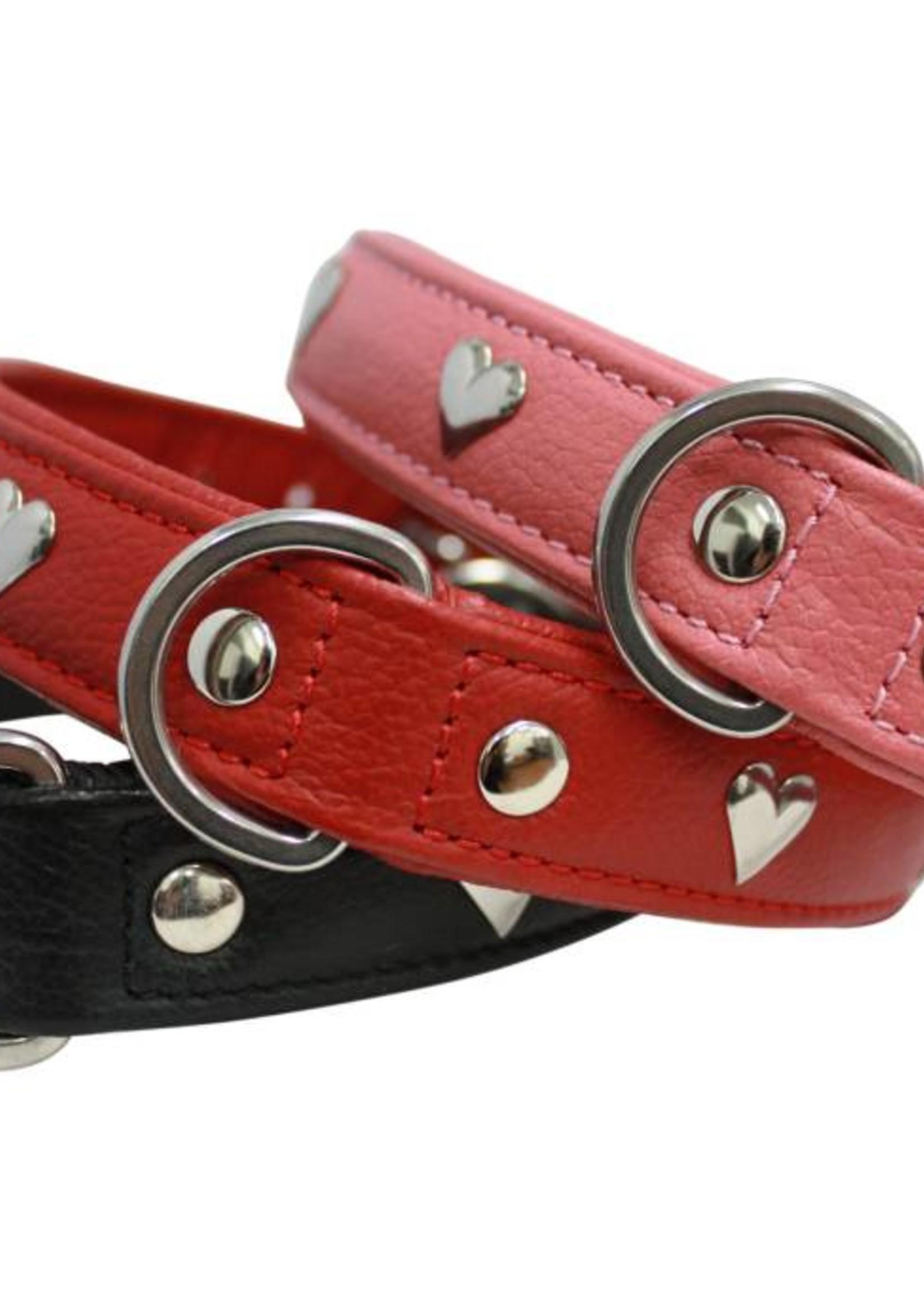 "Angel Collar Hearts Pink 16"" x 3/4"""