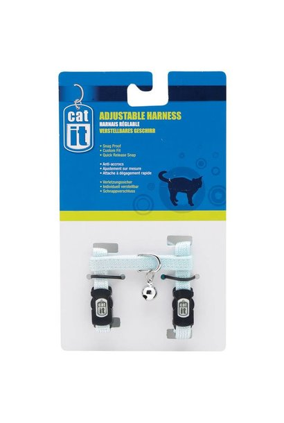 Catit Adjustable Harness, medium, blue