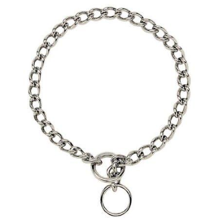 """Choke Chain Collar 18"""" Medium-1"""