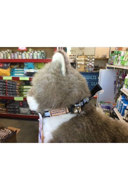"""1/2"""" x 12"""" Reflective Safety Cat Collar with Bell Black"""