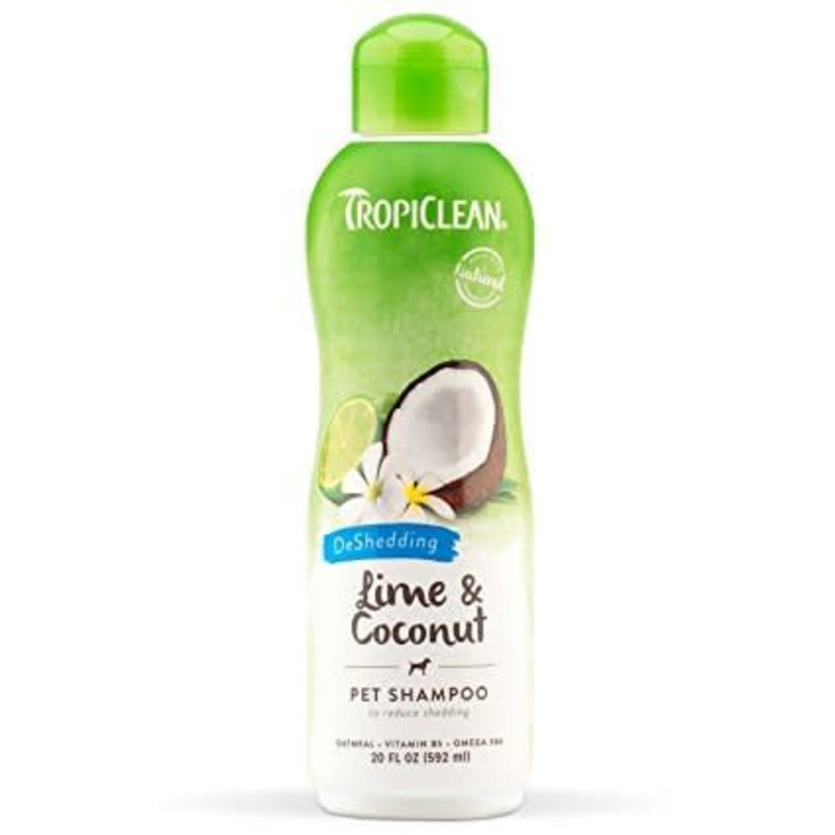 Tropiclean Lime and Coconut Deshedding Shampoo 20oz
