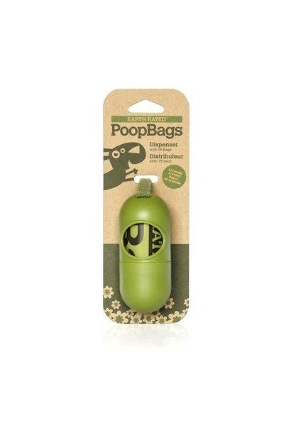 DISPGREEN Biodegradable Poop Bags w/Dispenser (15)
