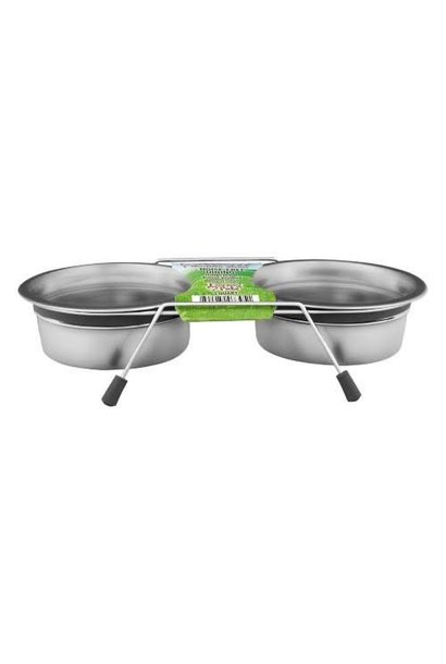 Bella Bowls Silent Double Diner Gray 1qt