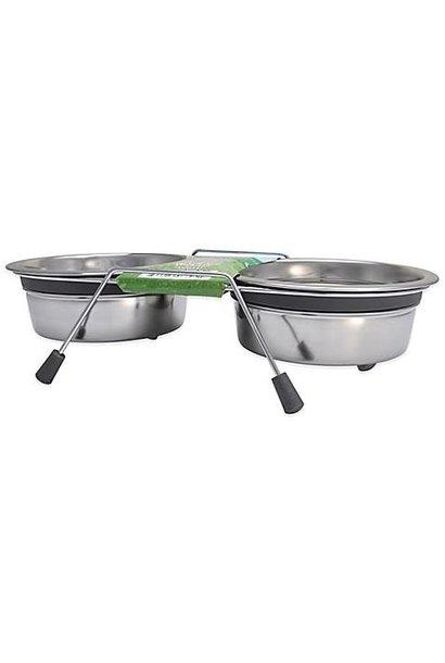 Bella Bowls Silent Double Diner Gray 2qt