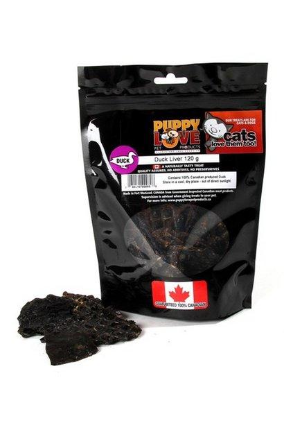 Puppy Love Duck Liver 120g