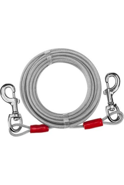 Lge Tie Out Cable 25ft Silver