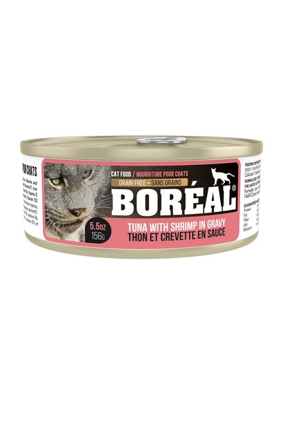 BOREAL TUNA WITH SHRIMP IN GRAVY 156gr