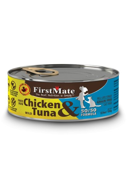 First Mate 50/50 Free Run Chicken/Wild Tuna 5.5oz