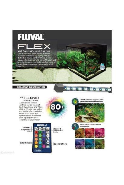 Fluval Flex Aquarium, Black, 9gal
