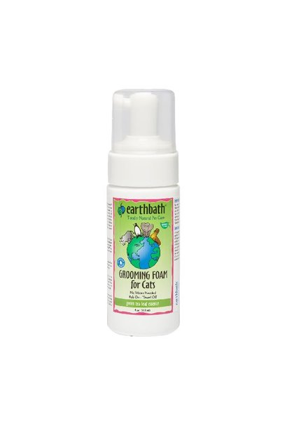 EarthBath Green Tea Leaf Essence Grooming Foam for Cats 118ml