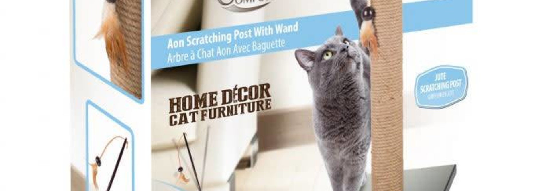 All for Paws Classic Comfort Aon Scratching Post w/Wand
