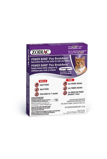 Zodiak Cat Power Band Breakaway Dual Action Flea & Tick Collar