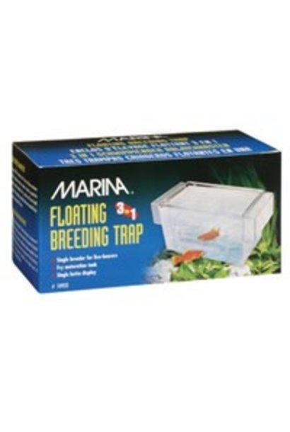 "Marina 3 in 1 Breeding Trap - 16.5 L x 8.25 W x 8.9 H cm (6.5 L x 3.25 W x 3.5 H"")"