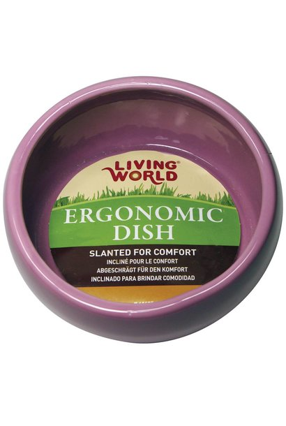 Living World Ergonomic Dish, Pink Small