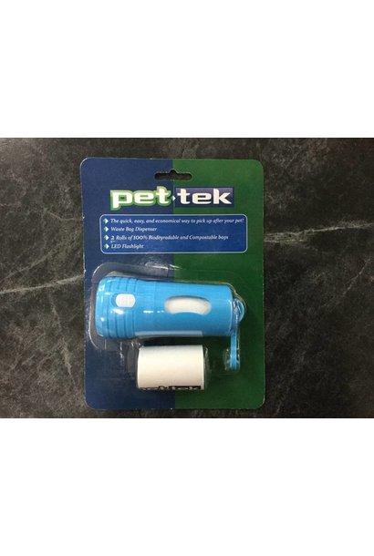Pet-Tek Poop Bag Holder with LED Flashlight