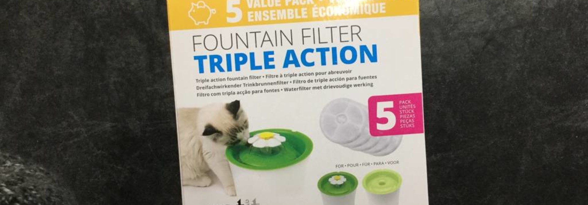 CA 2.0 Triple Action Fountain Filter, 5pk