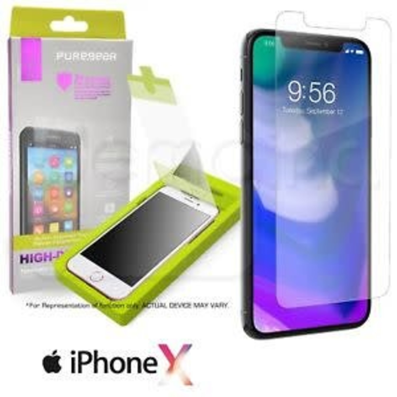 watch b6353 01e26 Pure Gear High Definition Tempered Glass Screen Protector (iPhone X)