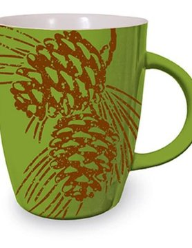 Woodland Graphic Mug - Pine Cone