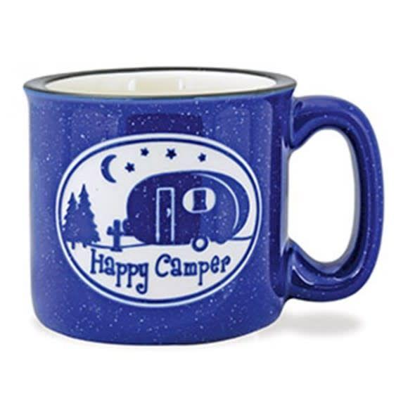 Camp Mug - Happy Camper - Speckled