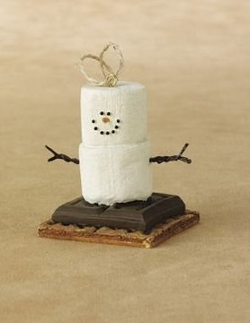 S'more Marshmallow Ornaments