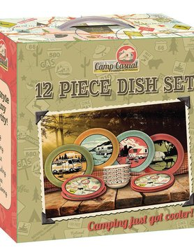 Camp Casual Camp Casual - 12 Piece Dish Set