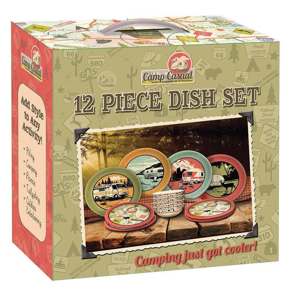Camp Casual Camp Casual - 12 Piece Dish Set