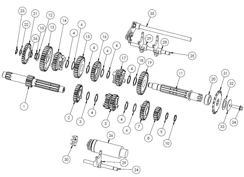PM07-18 - Transmission Assembly